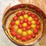 tarte tomates cuite avec cercle