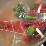 homard court bouillon